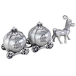 Lillian Rose™ Fairytale Coach Tooth and Curl Boxes in Silver
