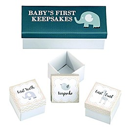 Lillian Rose™ Baby's First Keepsake Boxes in Grey (Set of 3)