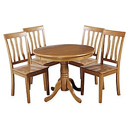 Kimberley 5-Piece Solid Wood Dining Set in Oak