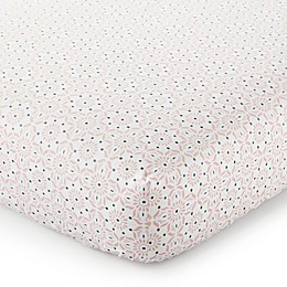 Levtex Baby® Fiori Collection Medallion Fitted Crib Sheet in Blush/Navy