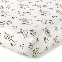 Levtex Baby® Fiori Collection Floral Fitted Crib Sheet in Blush/White