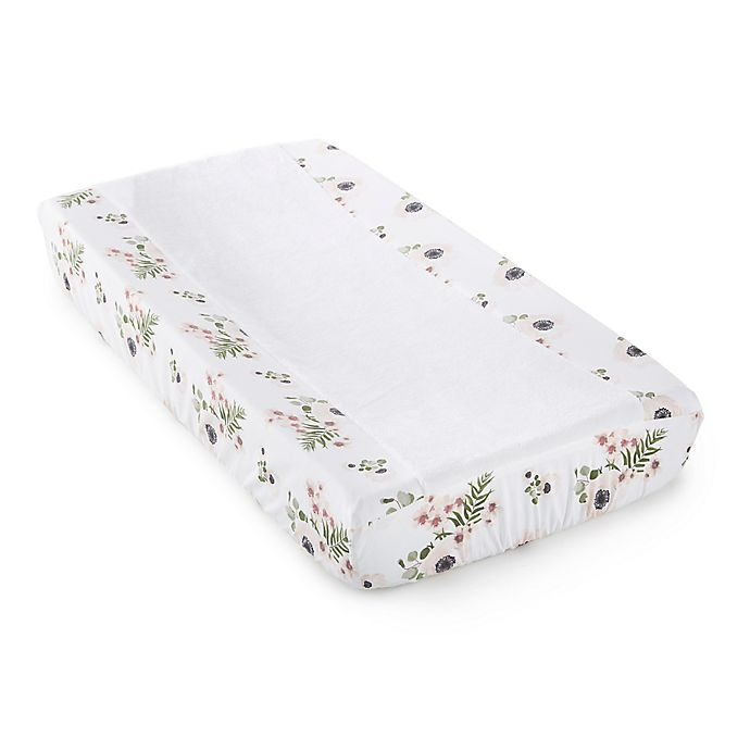 Alternate image 1 for Levtex Baby® Fiori Collection Changing Pad Cover in Blush/Ivory