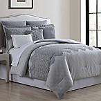 Raquel 8-Piece  Queen Comforter Set in White/Grey