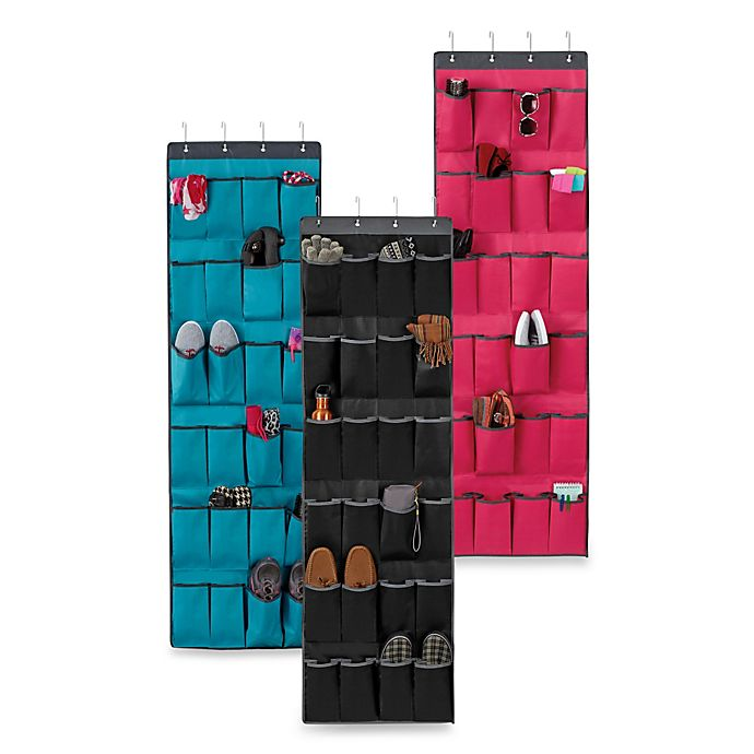 Alternate image 1 for Over-the-Door 24-Pocket Shoe Organizer