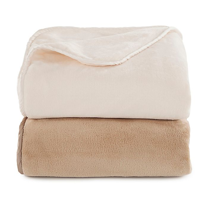 Alternate image 1 for Vellux® 12 lb. Plush Weighted Reversible Throw Blanket