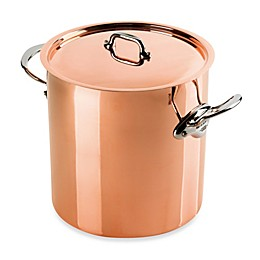 Mauviel M'heritgage 150s Copper 11.7 qt. Covered Stock Pot