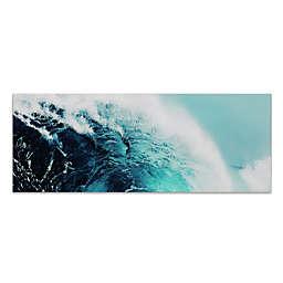 Blue Wave I 63-Inch x 24-Inch Glass Wall Art
