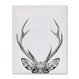 Deer Canvas Wall Art in Black/White