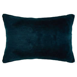 Cozy Teal Oblong Throw Pillow