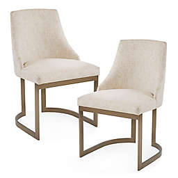 Madison Park Bryce Modern Dining Chairs in Cream (Set of 2)