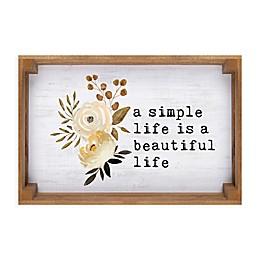 Simple Life 16.75-Inch x 11.25-Inch Framed Wall Art
