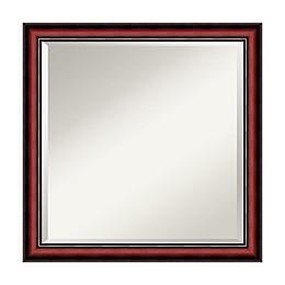 Amanti Art Rubino 23-Inch Square Vanity Mirror in Cherry