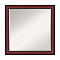 Amanti Art Rubino 23-Inch Square Vanity Mirror in Cherry