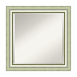 Amanti Art Vegas 25-Inch Square Vanity Mirror in Silver