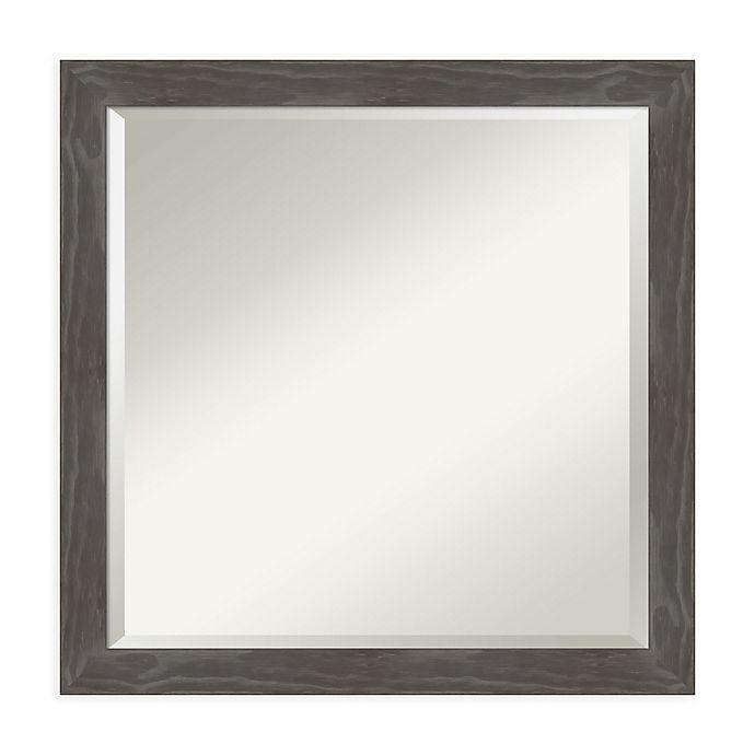 Alternate image 1 for Amanti Art Woodridge 23-Inch Square Vanity Mirror in Grey