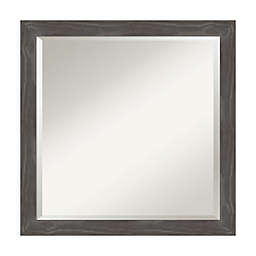Amanti Art Woodridge 23-Inch Square Vanity Mirror in Grey