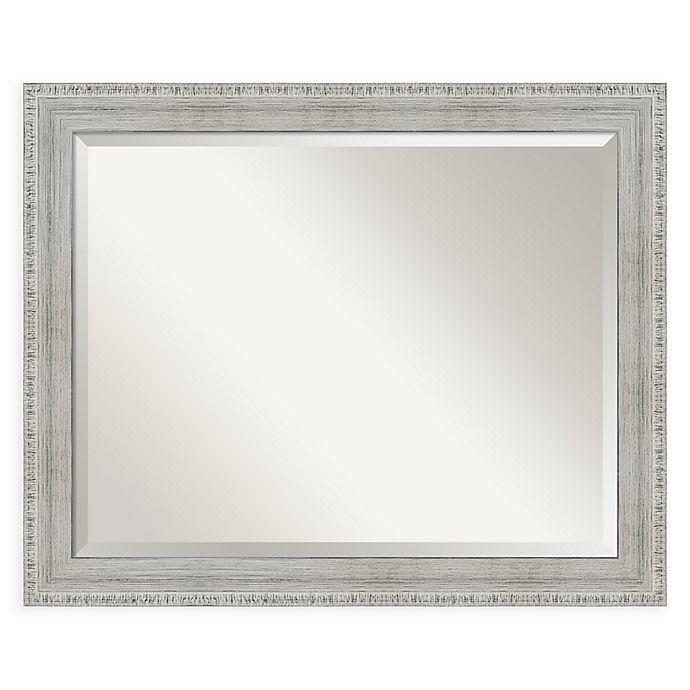 Alternate image 1 for Amanti Art Rustic 32-Inch x 26-Inch Framed Wall Mirror in Whitewash