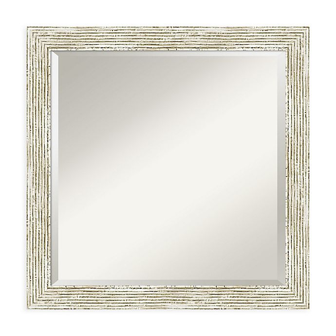 Alternate image 1 for Amanti Art Cape Code 23-Inch Square Vanity Mirror in Whitewash