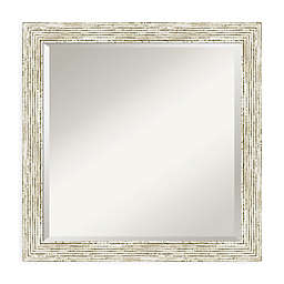 Amanti Art Cape Code 23-Inch Square Vanity Mirror in Whitewash