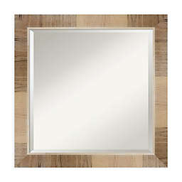 Amanti Art Natural 24-Inch Square Vanity Mirror in Whitewash