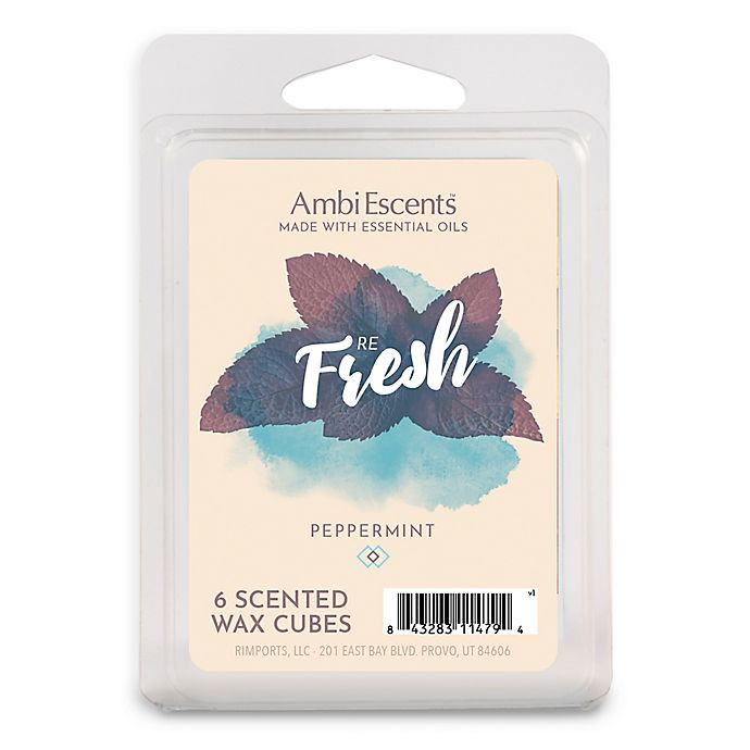 Alternate image 1 for AmbiEscents™ Refresh Peppermint 6-Pack Wax Fragrance Cubes