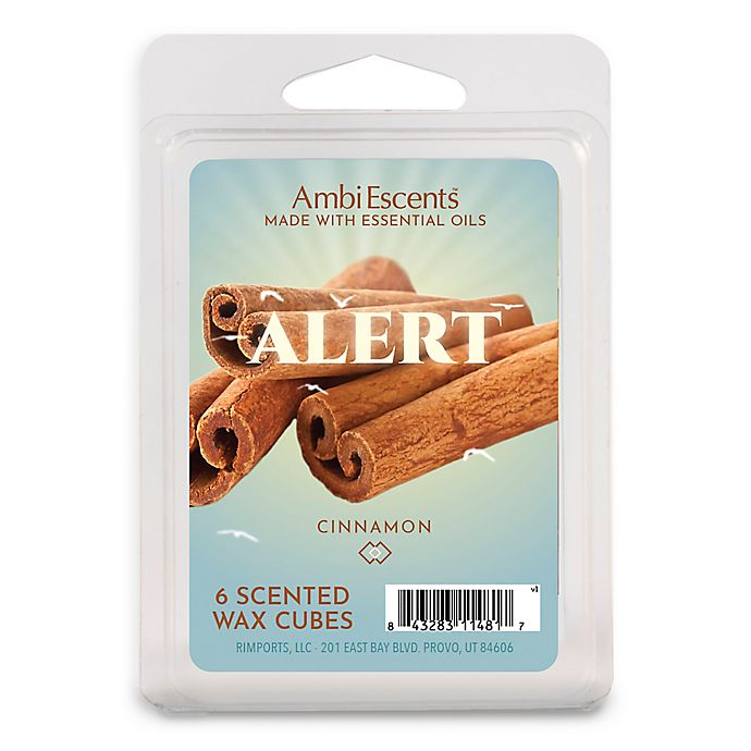 Alternate image 1 for AmbiEscents™ Alert Cinnamon 6-Pack Wax Fragrance Cubes