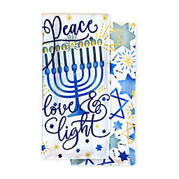 Peace Love Light 2-Pack Hannukah Kitchen Towels