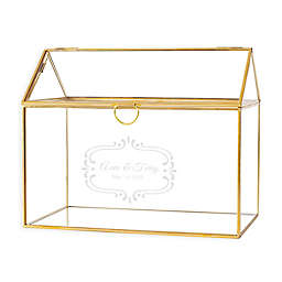 Cathy's Concepts Glass Reception Card Box in Gold