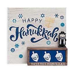 Countdown to Hanukkah Indoor Holiday Decoration in Blue/White