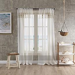 Coastal Life Capri Sheer Window Curtain Panel in Natural