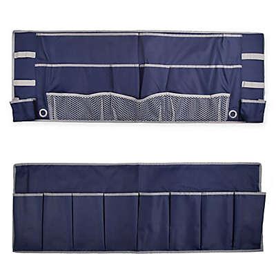 2-Piece Footboard Bedside Organizer Caddy
