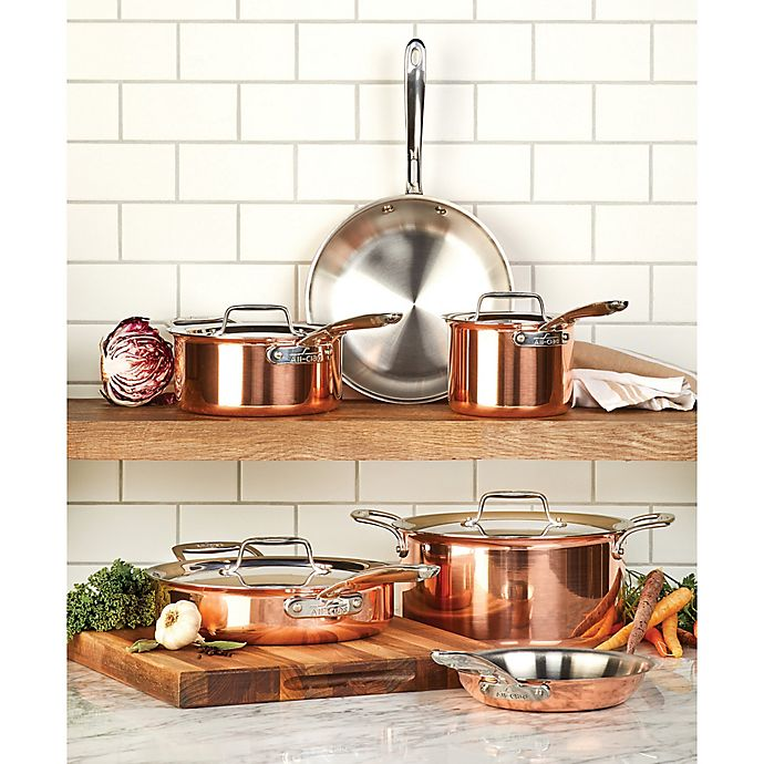 Alternate image 1 for All-Clad C4 Copper 10-Piece Cookware Set