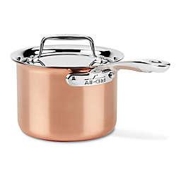 All-Clad C4 Copper 2 qt. Covered Saucepan