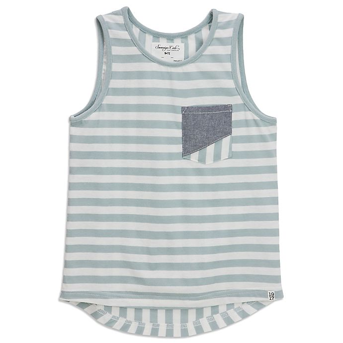Alternate image 1 for Sovereign Code Striped Tank in Seafoam