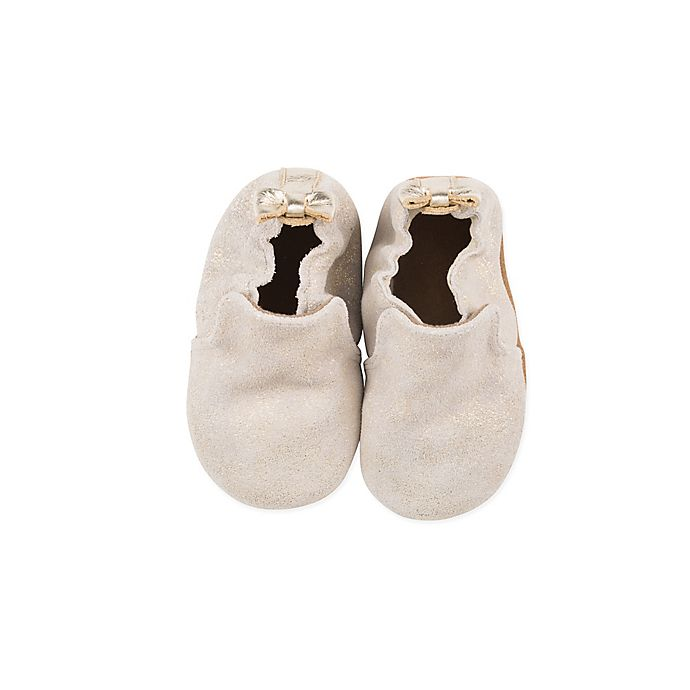 Alternate image 1 for Robeez® Soft Sole Pretty Pearl Casual Shoe in Gold