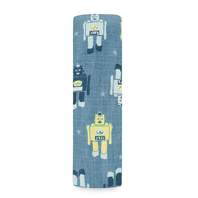 Alternate image 1 for aden® by aden + anais® Robots Swaddle Blanket in Retro