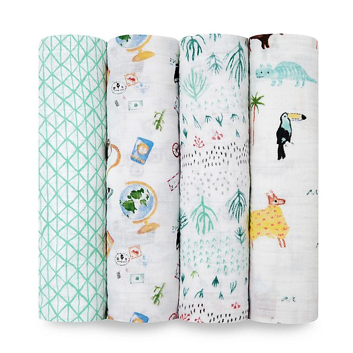 Alternate image 1 for aden + anais® Swaddle Blankets (Set of 4)