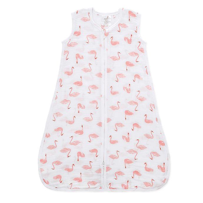 Alternate image 1 for aden® by aden + anais® Medium Swan Muslin Wearable Blanket in Pink