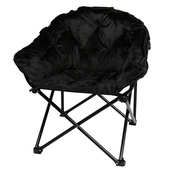 Remarkable Folding Faux Mink Club Chair Bed Bath Beyond Creativecarmelina Interior Chair Design Creativecarmelinacom