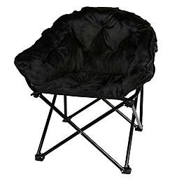 Folding Faux Mink Club Chair