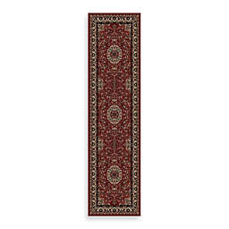 Concord Global Trading Isfahan Red 2-Foot x 7-Foot 7-Inch Rug