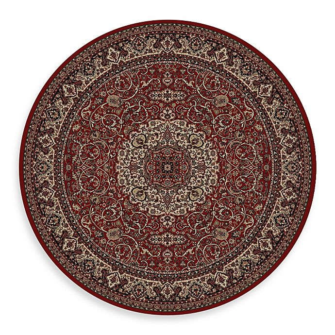 Alternate image 1 for Concord Global Isfahan Red 7-Foot 10-Inch Round Rug