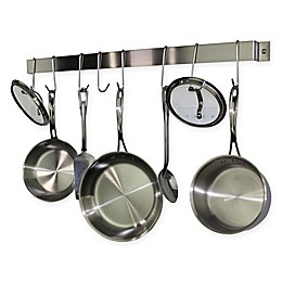RACK-IT-UP! 32-Inch Utensil Bar Wall-Mount Pot Rack with Hooks