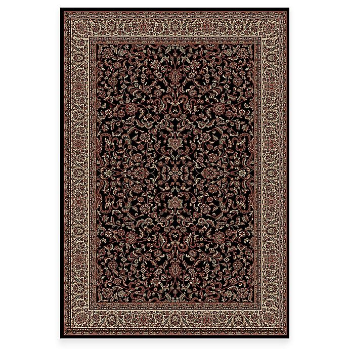 Alternate image 1 for Concord Global Trading Jewel Kashan Rug in Black