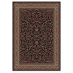 Concord Global Trading Jewel Kashan Rug in Black