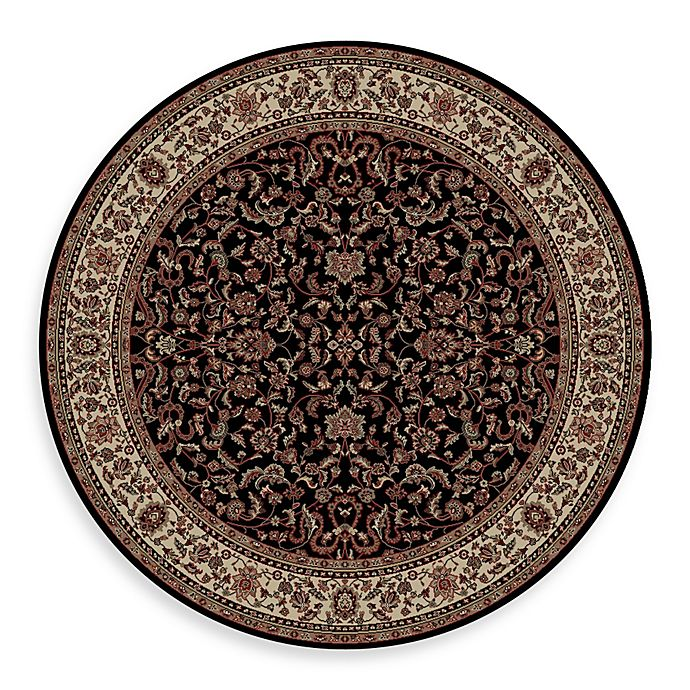 Alternate image 1 for Concord Global Trading Jewel Kashan 7-Foot 10-Inch Round Rug in Black