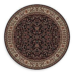 Concord Global Trading Jewel Kashan 5-Foot 3-Inch Round Rug in Black