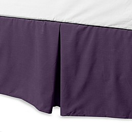 Smoothweave™ 14-Inch Tailored King Bed Skirt in Purple