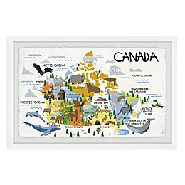 Marmont Hill Canada Map Framed Wall Art