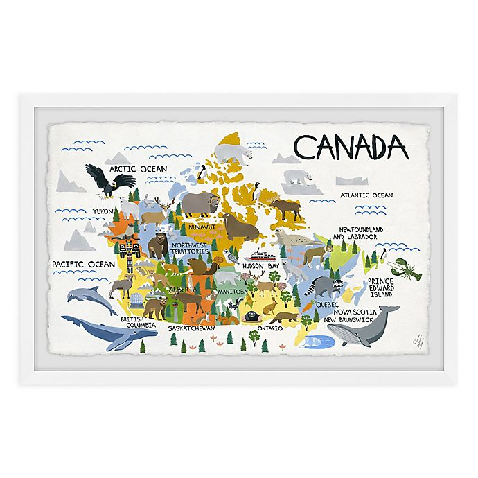 Alternate image 1 for Marmont Hill Canada Map Framed Wall Art